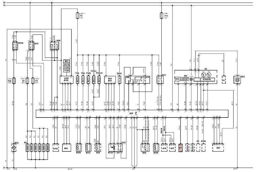 schema electrique essuie glace scenic 2
