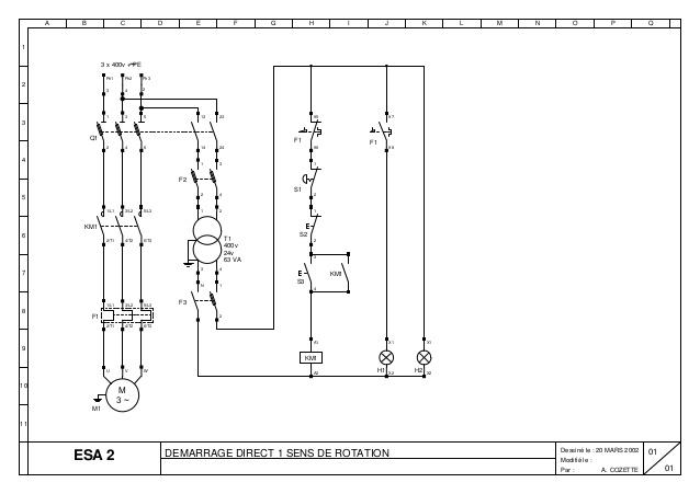 schema electrique moteur 2 sens de rotation