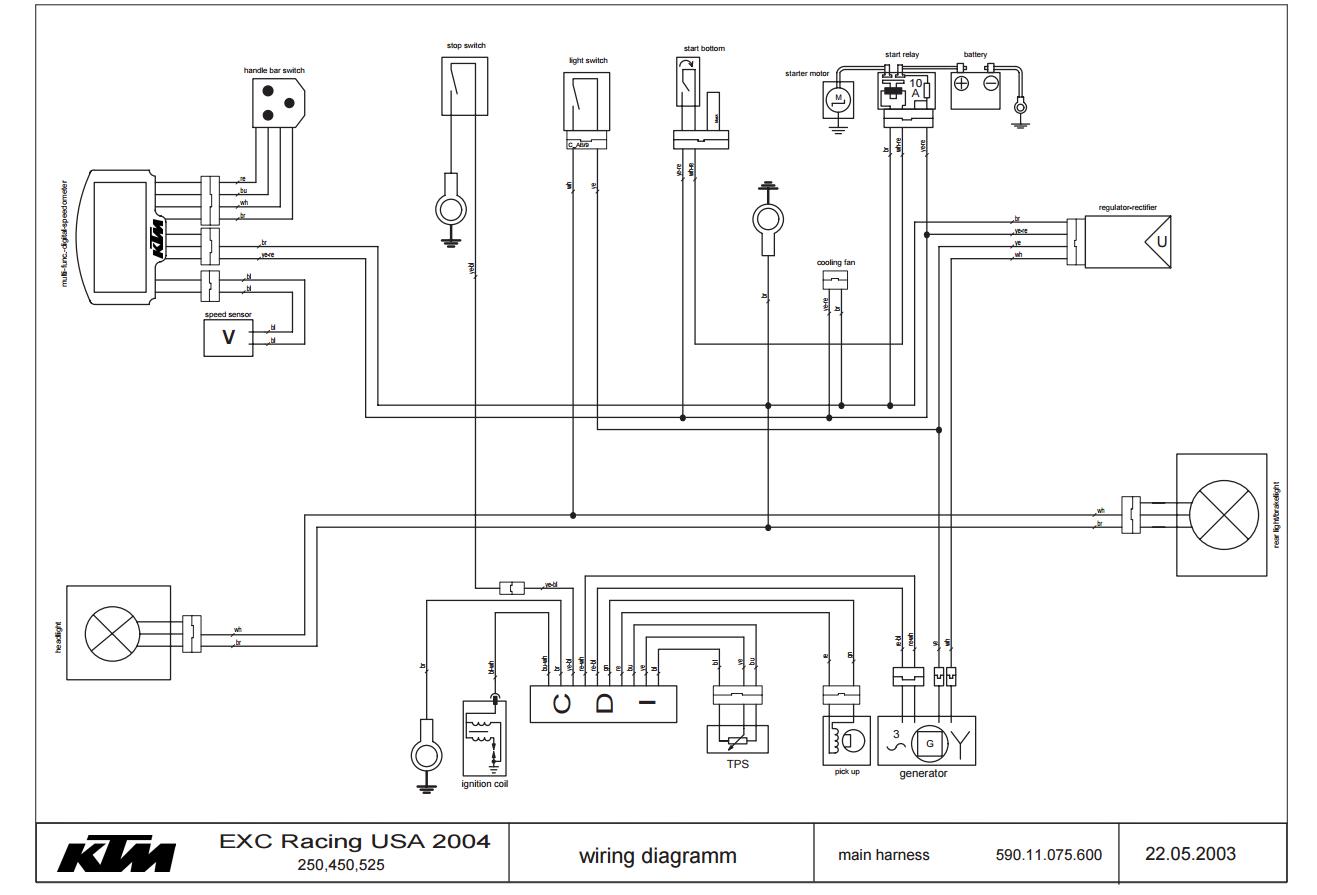 Schema Electrique Ktm 250 Exc 2002