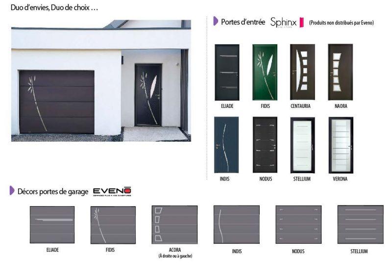 Porte de garage eveno prix bois eco Porte de garage eveno